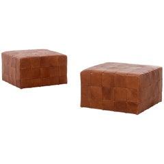 Danish Modern Cube Ottomans