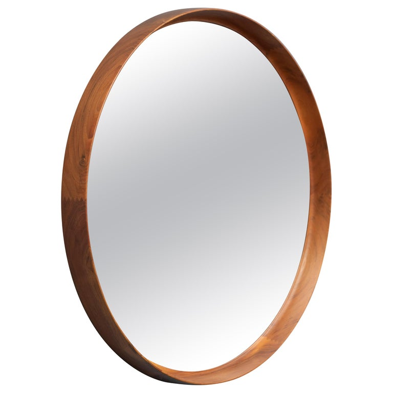 Uno & Östen Kristiansson Wall Mirror in Teak For Sale