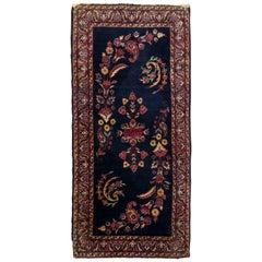 Dark Blue Antique Persian Sarouk Rug