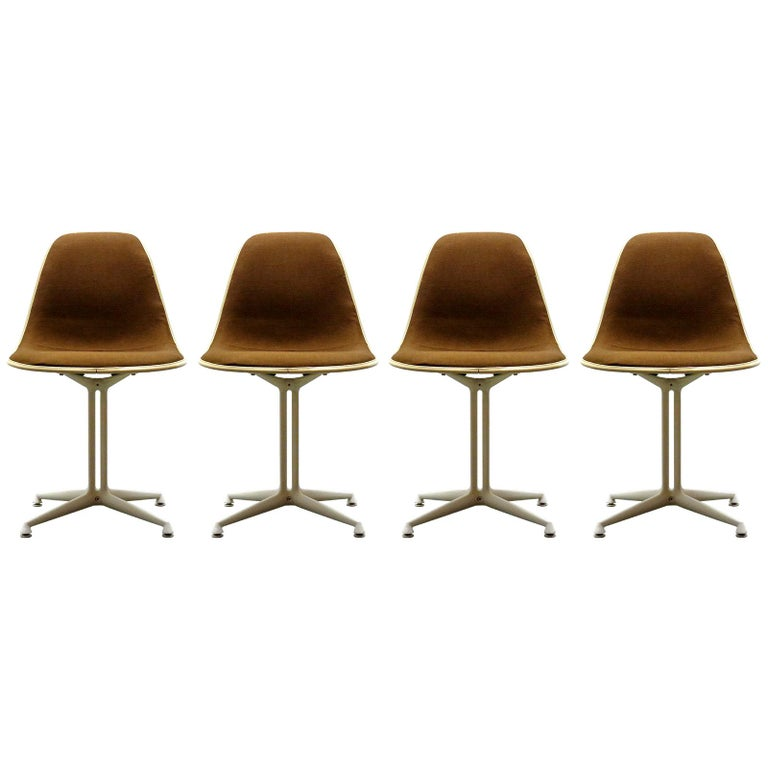 Set of Four Charles and Ray Eames La Fonda Chairs For Sale