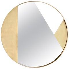 Revolution Mirror No.2, Brushed Brass
