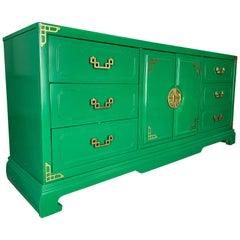 Asian Chinoiserie 9-Drawer Dresser