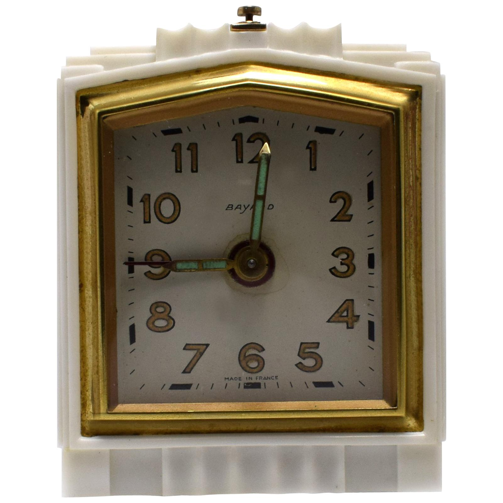 Art Deco 1930s French Bakelite Miniature Alarm Clock