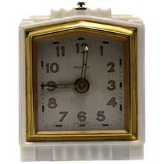 Art Deco 1930s French Bakelite Miniature Alarm Clock
