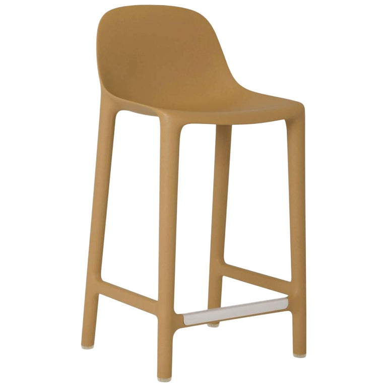 Emeco Broom Counter Stool in Tan by Philippe Starck For Sale