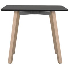Emeco Su Low Table in Wood with Black Laminate Top by Nendo