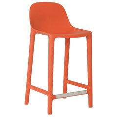 Emeco Broom Counter Stool in Orange by Philippe Starck