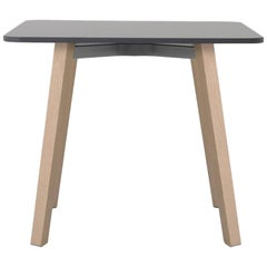 Emeco Su Low Table in Wood with Gray Laminate Top by Nendo
