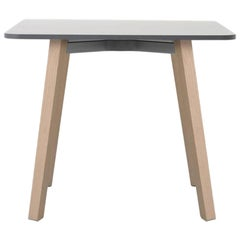 Emeco Su Low Table in Wood with White Laminate Top by Nendo