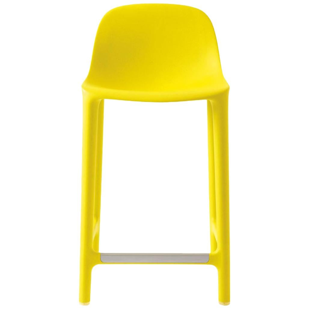 Emeco Broom Counter Stool in Yellow by Philippe Starck