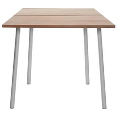 Emeco Run Small Table in Aluminum and Cedar by Sam Hecht & Kim Colin