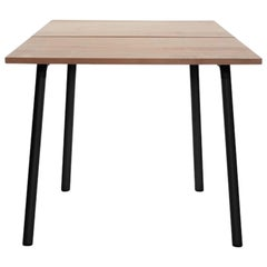 Emeco Run Small Table in Black Powder-Coat and Cedar by Sam Hecht & Kim Colin