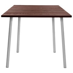 Emeco Run Small Table in Aluminum and Walnut by Sam Hecht & Kim Colin
