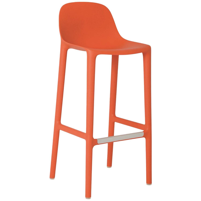 Emeco Broom Barstool in Orange by Philippe Starck