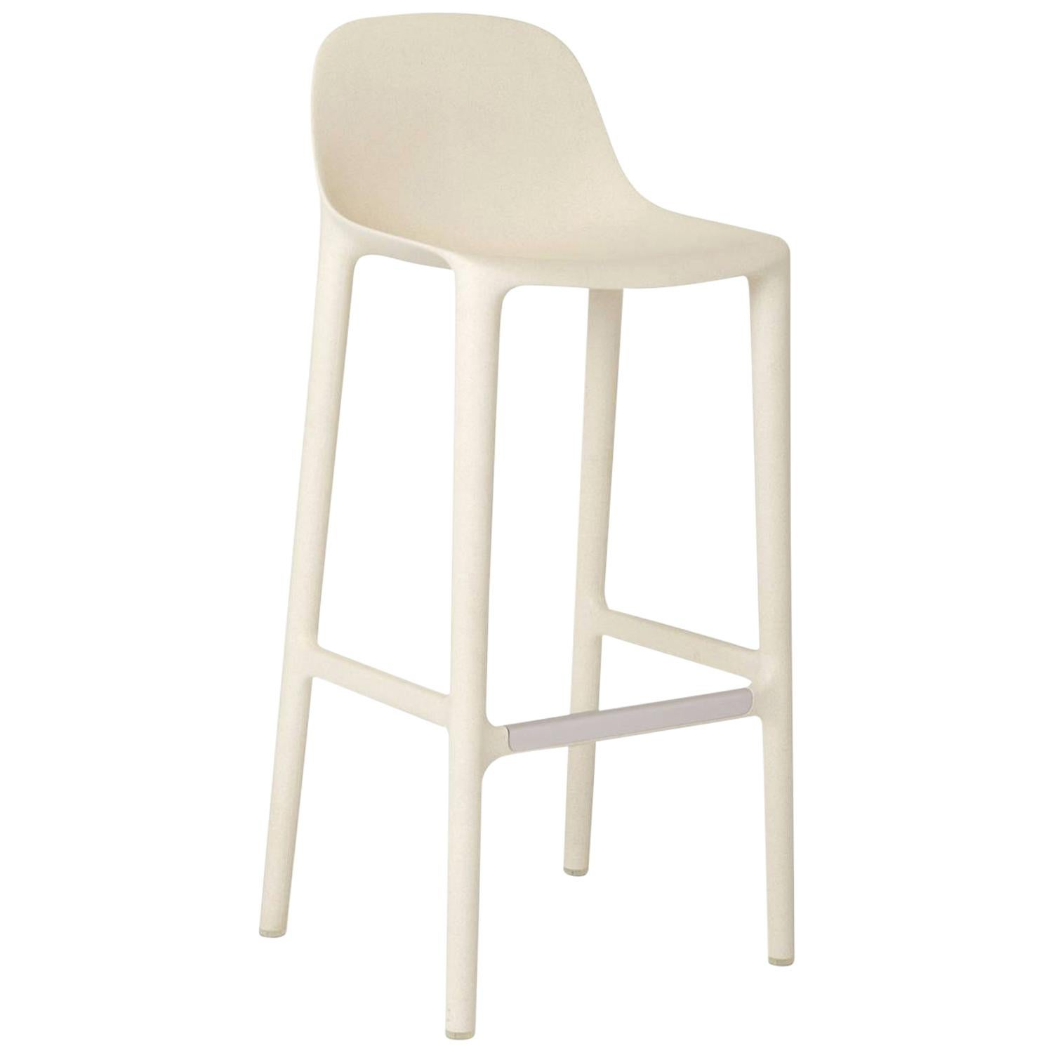 Emeco Broom Barstool in White by Philippe Starck