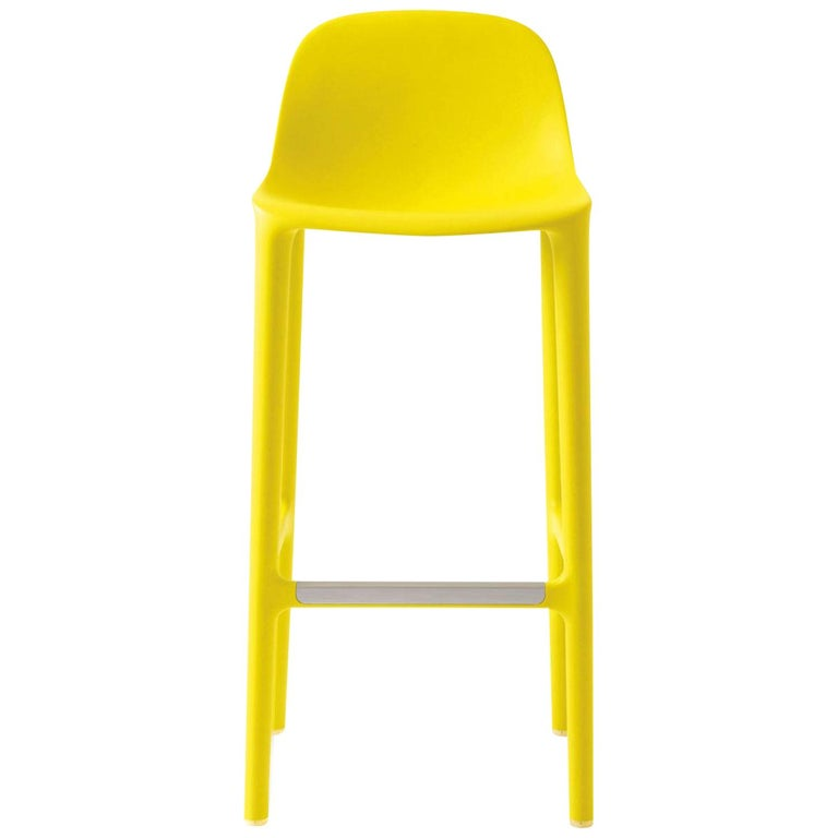 Emeco Broom Barstool in Yellow by Philippe Starck  For Sale