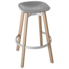 Emeco Su Barstool in Wood w/ Flint Seat by Nendo