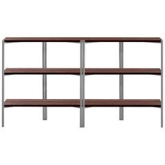 Emeco Run Shelf in Aluminum & Walnut by Sam Hecht + Kim Colin