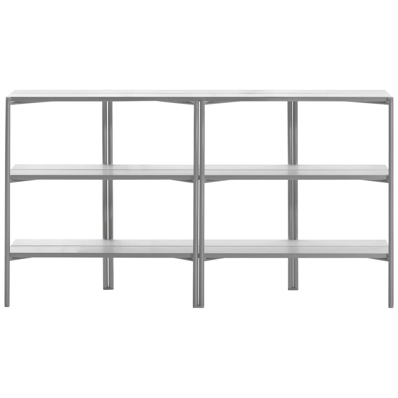 Emeco Run Shelf in Clear Anodized Aluminum by Sam Hecht + Kim Colin