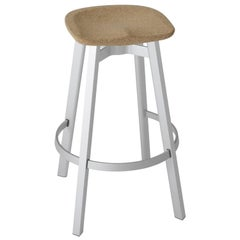 Emeco Su Barstool in Natural Aluminum with Cork Seat by Nendo