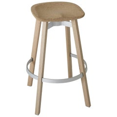 Emeco Su Barstool in Wood w/ Cork Seat by Nendo