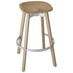 Emeco Su Barstool in Wood w/ Cork Seat by Nendo