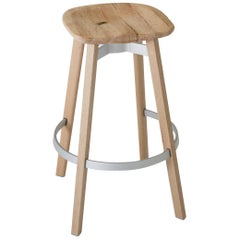 Emeco Su Barstool in Wood w/ Reclaimed Oak Seat by Nendo