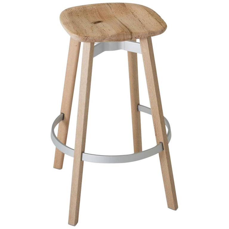 Emeco Su Barstool In Wood W Reclaimed Oak Seat By Nendo