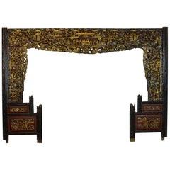 Asian Wood Panel