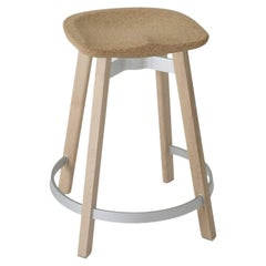 Emeco Su Counter Stool in Wood with Cork Seat by Nendo