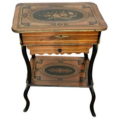 Marquetry Inlaid Louis XV Style Side / Vanity Dressing Table, France SALE