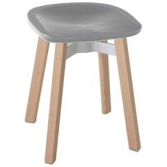 Emeco Su Small Stool in Wood with Flint Seat by Nendo