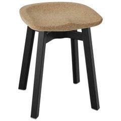 Emeco Su Small Stool in Black Aluminum with Cork Seat by Nendo