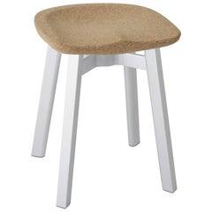 Emeco Su Small Stool in Natural Aluminum w/ Cork Seat by Nendo