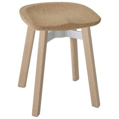 Emeco Su Small Stool in Wood with Cork Seat by Nendo