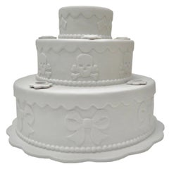 Signed Studio Job Biscuit Cake Porcelain Candleholder
