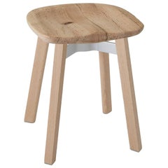 Emeco Su Small Stool in Wood w/ Reclaimed Oak Seat by Nendo