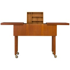 Mid-Century Modern Danish Teak Sewing Table, 1960s