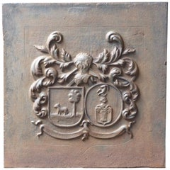 French Louis XIV Style 'Coat of Arms' Fireback