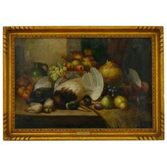 """Fruit & Game"" Still Life Oil Painting by William Duffield"