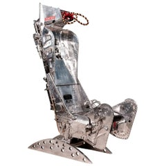 Stylish Polished Ejection Seat by Martin Baker, circa 1960