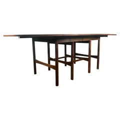 Modernist Walnut Dining Table, Merton Gershun for American of Martinsville
