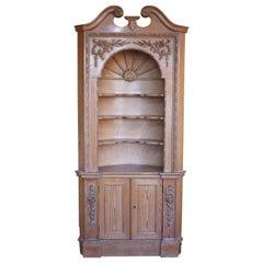 20th Century George II Style Pine Corner Cupboard