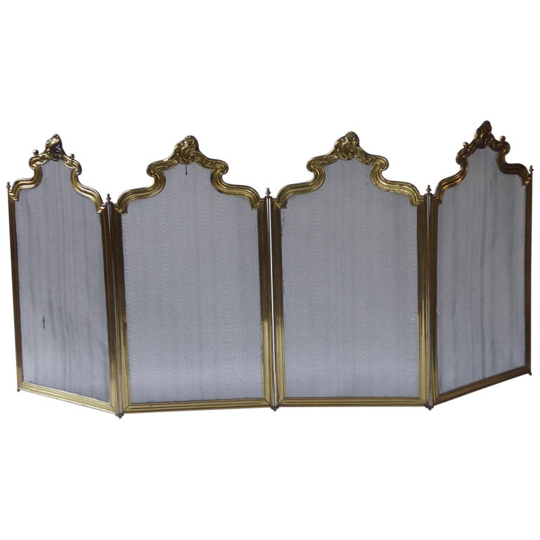 French Napoleon III Fireplace Screen or Fire Screen For Sale