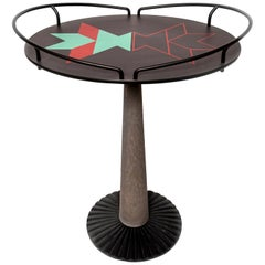 Postmodern 'Loto' Cast Iron Side Table by Hans von Klier