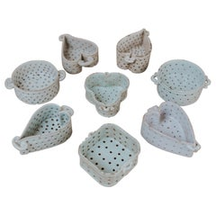 Collection of Porcelain Cheese Moulds