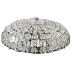Emil Stejnar Rupert Nikoll Glass Blossom Flush Mount Fixture Light, 1950s