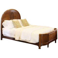 Wooden Bed with Oval Cameo, WK112