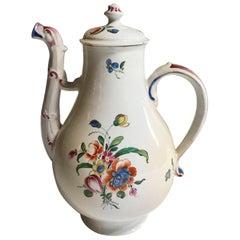 Richard Ginori Porcelain Coffee Pot Multi-Color Country Flowers Decor