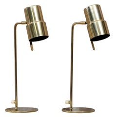 Pair of Hans-Agne Jakobsson Table Lamps Model B-195, 1960s